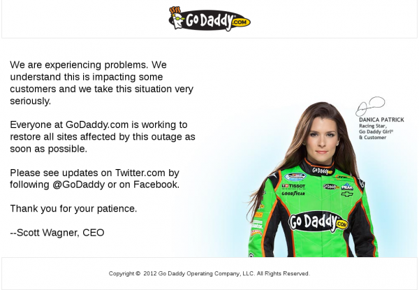 GoDaddy.com title page at 2012-09-10